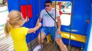 Download Nastya and dad play fun at the amusement park Video
