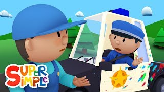Download Police Officer Oona chases a paint thief and gets a BIG SURPRISE! | Police Car Wash Video