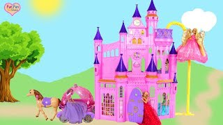 Download Disney Princess Ultimate Dream Castle Barbie Unboxing Review Boneka Putri Istana Princesa Castelo Video