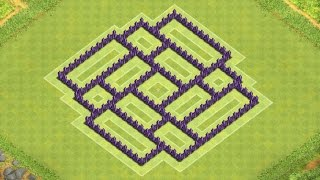 Download Clash of Clans Town Hall 7 Defense (CoC TH7) BEST Trophy Base Layout Defense Strategy Video