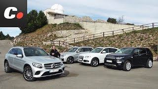 Download Mercedes-Benz GLC, BMW X3, Land Rover Discovery Sport, Audi Q5 | Prueba SUV | Test / Review Video