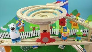 Download 레일 위의 작은 우주 하페 쿼드릴라 스페이스 시티 게임 놀이 ❤ 뽀로로 장난감 애니 ❤ Pororo Toy Video | 토이컴 Toycom Video