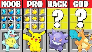 Download Minecraft Battle: POKEMON CRAFTING CHALLENGE - NOOB vs PRO vs HACKER vs GOD ~ Minecraft Animation Video