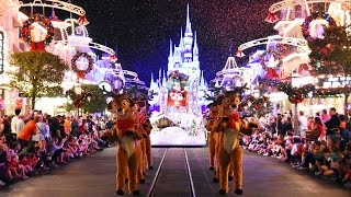 Download 2016 Mickey's Once Upon A Christmastime Parade at Very Merry Christmas Party - w/ Frozen, Cinderella Video