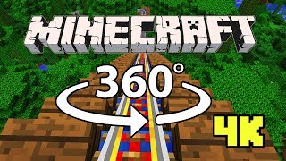 Download Minecraft [VR] 360° 4K 60 Fps - ROLLER COASTER | Jungle Rush Video
