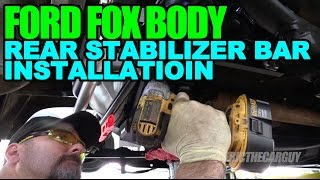 Download Keep Your Lean from Getting Mean, Rear Stabilizer Bar Installation Video