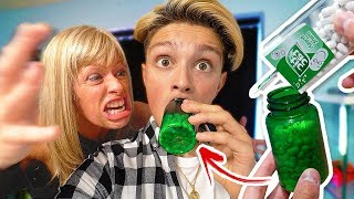 Download TIC TACS IN PILL BOTTLE PRANK!! (ANGRY MOM FREAKOUT) - Prank Wars Video