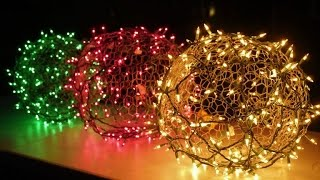 Download How to make holiday light balls Video