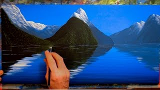 Download Painting Mountains with Water Reflections - In Acrylics Video
