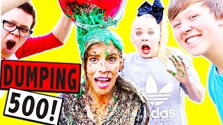 Download DUMPING 500 THINGS ON MY HEAD FOR 500K SUBSCRIBERS!!! Video