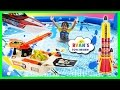 Download Giant Kid Pool Disney Cars Water Gun Fight RC Boat MatchBox Squid Fleet Water Toys For Kids Video