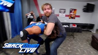 Download Dean Ambrose gets into a backstage brawl with AJ Styles: SmackDown LIVE, Nov. 29, 2016 Video