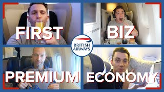 Download Reviewing Four Classes On The Same British Airways Flight | First, Business, Premium & Economy Video