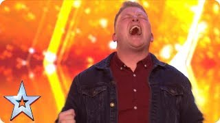 Download Gruffydd wows with OUT OF THIS WORLD vocals and bags a GOLDEN BUZZER! | Auditions | BGT 2018 Video