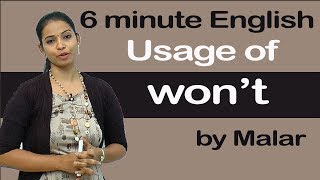 Download ″Usage of won't″ # 28 - Learn English with Kaizen through Tamil Video
