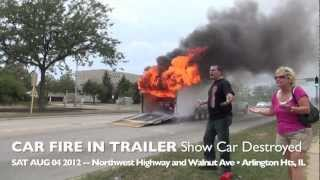 Download Show Car 1969 Camaro Destroyed by Fire During Transport in Trailer on Route 14, Arlington Heights Video