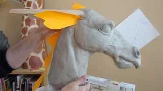 Download Paper Mache Dragon 2 - Clay Head Form Video