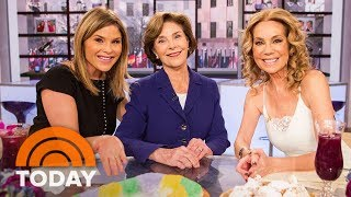 Download Laura Bush Visits Daughter Jenna And Kathie Lee | TODAY Video