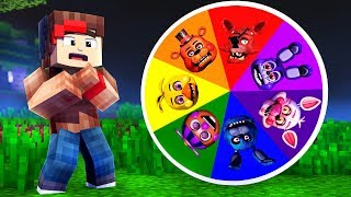 Download THE WHEEL OF THE FORTUNE OF THE FNAF ANIMATRONICS! - Minecraft FIVE NIGHTS AT FREDDY'S Video