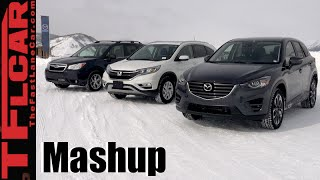 Download 2016 Mazda CX-5 vs Honda CR-V vs Subaru Forester AWD Snow Traction Mashup Review Video