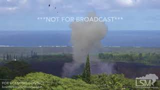 Download 5-23-2018 Hawaii Kilauea eruption highlights, lava river, fountains, waterspouts, explosions 4k Video