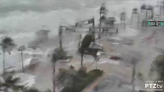 Download Hurricane Irma Storm Surge comes ashore along A1A on Ft Lauderdale Beach Video