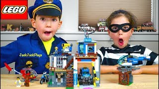 Download Lego City Mountain Police HQ Unboxing + Costume Pretend Play Skits Video