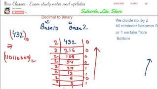 Download Binary, Decimal, Octal, Hexadecimal conversion| ICT class 3 | in Hindi Video