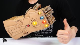 Download DIY Thanos Infinity Gauntlet(Avengers) from Cardboard Video
