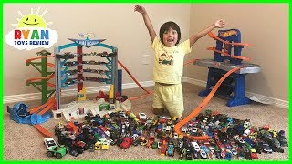Download Biggest Hot Wheels Collection Road Rally Raceway Playset! Kids Pretend Play Ultimate Garage Cars Video