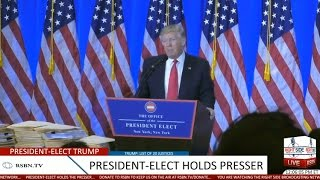 Download Full Event: President-Elect Donald Trump Holds Press Conference at Trump Tower 1/11/17 Video