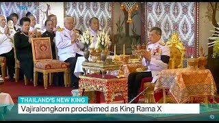 Download Thailand's New King: Vajiralongkorn proclaimed as King Rama X Video
