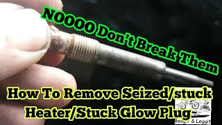 Download How To Remove Seized Heater/stuck glow plug With No Specialist Tools Bodgit And Leggit Garage Video