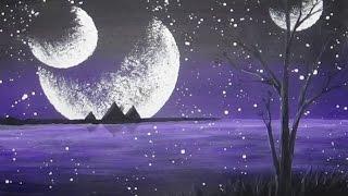 Download Acrylic Painting Mystical Moons Alien Planet #CACFantasyArt Video