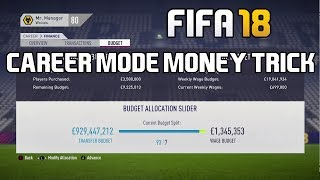 Download FIFA 18 Career Mode Tutorial: How To Get 1 BILLION Transfer Budget! Video