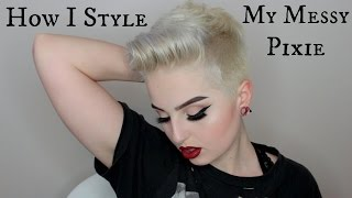 Download How I style my messy pixie Video