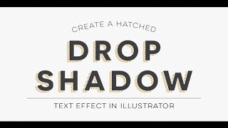 Download Create a Hatched Drop Shadow Text Effect in Illustrator Video