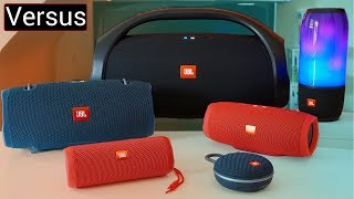 Download JBL Speaker Line Up Explained- JBL Boombox vs Xtreme 2 vs Pulse 3 vs Charge 3 vs Flip 4 vs Clip 3 Video