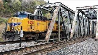 Download 3 Trains At Twin Bridges, 1941 Trestles, Mountain Green, Utah! Video
