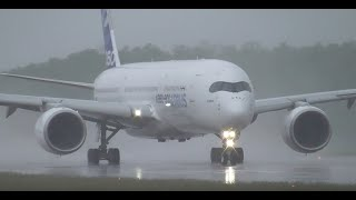 Download AMAZING take off under heavy rain ! Airbus A350 @ Euroairport MLH-BSL Video