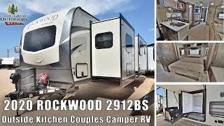 Download Updated 2020 FOREST RIVER ROCKWOOD 2912BS Rear XL Bathroom Travel Trailer Outside Kitchen RV Camper Video
