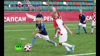 Download Reliving the World Cup final! Kids recreate all the goals from the match Video