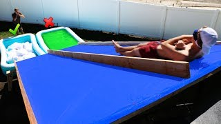 Download DONT Slide Down the Wrong Mystery Water Slide!! *GROSS POOL CHALLENGE * Video