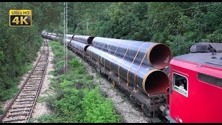 Download Rail traffic in Serbia - Freight trains around Belgrade [4K] Video