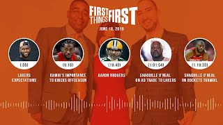 Download First Things First audio podcast (6.18.19)Cris Carter, Nick Wright, Jenna Wolfe | FIRST THINGS FIRST Video