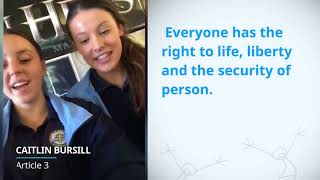 Download Caitlin Bursill, Australia, reading article 3 of the Universal Declaration of Human Rights Video