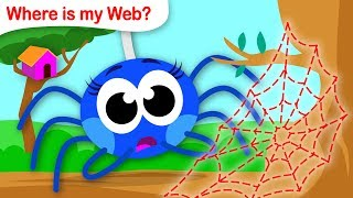 Download Where Is My Web? | Help Itsy Bitsy Spider Find her Web | Fun Songs for Kids by Little Angel Video