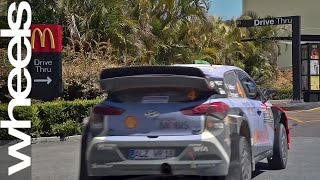 Download Hyundai i20 WRC car visits McDonald's drive-thru | Wheels Plus | Wheels Australia Video