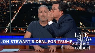 Download Jon Stewart Is Ready To Negotiate With Donald Trump Video