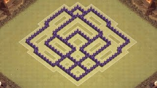 Download Clash of Clans Town Hall 7 Defense (CoC TH7) BEST War Base Layout Defense Strategy Video